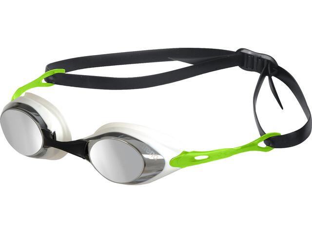 arena Cobra Mirror - Lunettes de natation - vert/noir